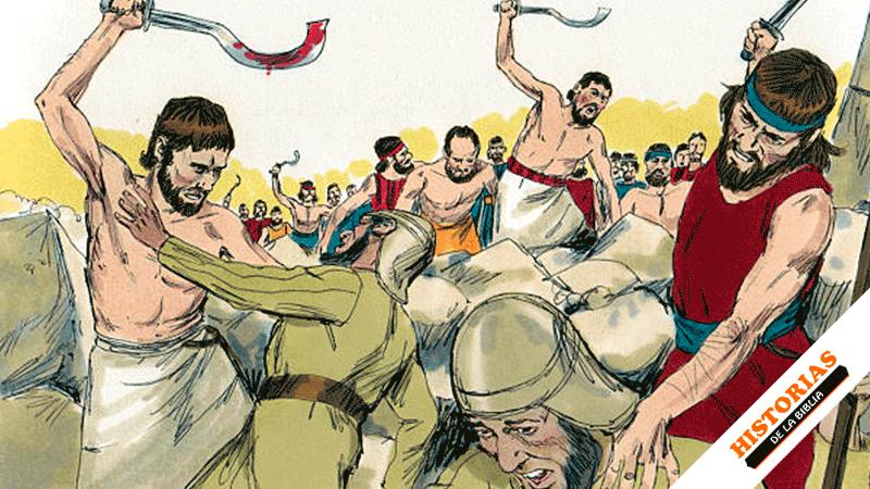 David destruye a los amalecitas