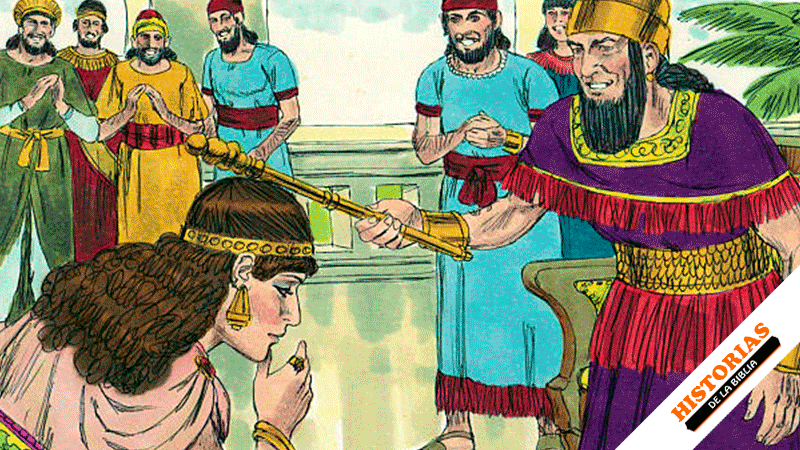 La reina Ester se presenta ante el rey Asuero