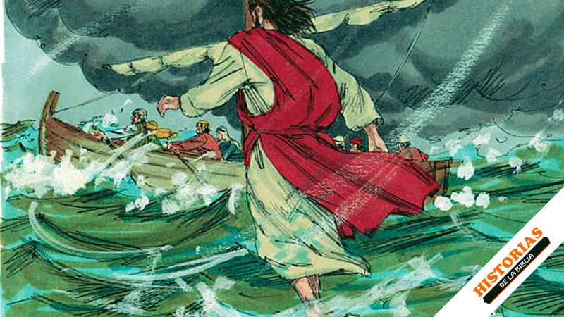 Jesús camina sobre las aguas